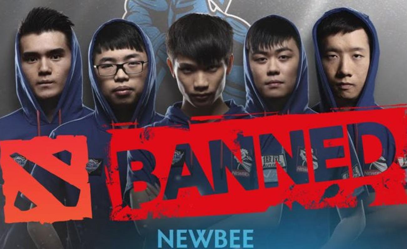 Newbee ban Dota 2